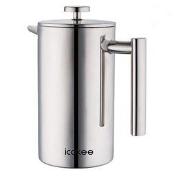 Icokee French Press Coffee Maker- 34oz/1000ml Doub