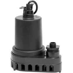 Superior Pump 91570 1/2 HP Thermoplastic Side-Disc
