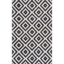 nuLOOM Hand Tufted Kellee Rug- Black- 4' X 6'
