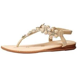 Cole Haan Women's FINDRA Thong Sandal Sandal- Brow