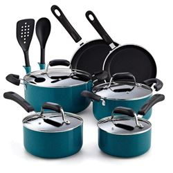 Cook N Home 02588 Stay Cool Nonstick Cookware Set-