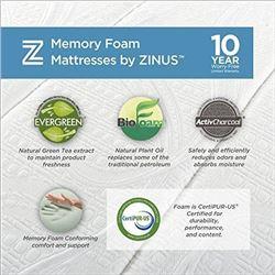Zinus Memory Foam 8 Inch Green Tea Mattress- Twin