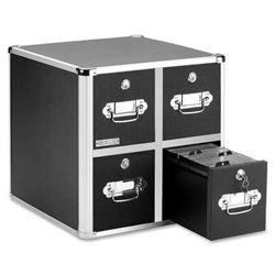 Vaultz Locking CD File Cabinet- 4 Drawers- 15.25 x