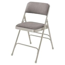 NATIONAL PUBLIC SEATING 2302 Folding Chair- Gray-1
