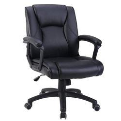 Zenith Ergonomic PU Leather Mid Back Executive Off