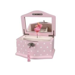 Elle Ballerina Music Jewelry Box with Lock- Small-