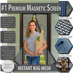Premium Magnetic Screen Door - KEEP BUGS OUT- Let
