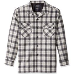 Pendleton Men's Fitted Long Sleeve Board Shirt- Bl