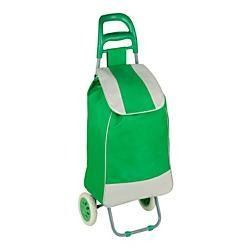 Honey-Can-Do CRT-03569 Large Rolling Knapsack Bag Cart with Wheels- Holds up to 40-Pounds- Green