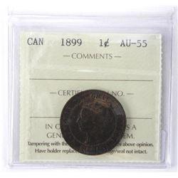 ICCS 1899 Canada One Cent. AU-55