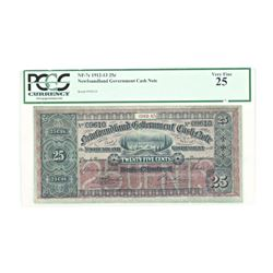 PCGS - Newfoundland Government Cash Note VF25