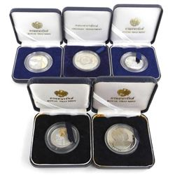 Lot (5) Royal Thai Mint Coins