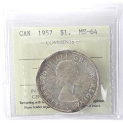 ICCS 1957 Canada Dollar MS-64