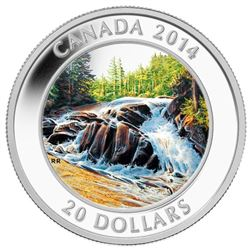2014 $20 River Rapids - Pure Silver Coin.