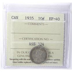 1935 Canada 10 Cent ICCS. EF40