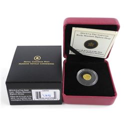 .9999 Fine Pure Gold Coin 25 Cent 'Bighorn Sheep'