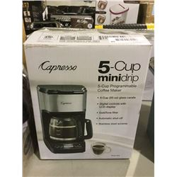 Capresso 5-Cup Minidrip Programmable Coffee Maker