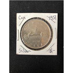 1951 CANADIAN SILVER DOLLAR