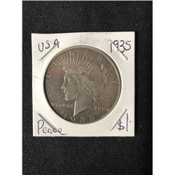 1935 USA PEACE SILVER DOLLAR