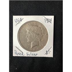 1924 USA PEACE SILVER DOLLAR