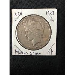 1923 USA MORGAN SILVER DOLLAR (MINTED SAN FRANCISCO)