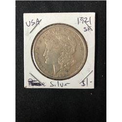1921 USA MORGAN SILVER DOLLAR (MINTED SAN FRANCISCO)