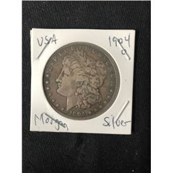 1904 USA MORGAN SILVER DOLLAR (MINTED NEW ORLEANS)