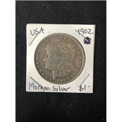 1902 USA MORGAN SILVER DOLLAR