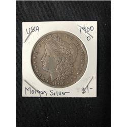 1900 USA MORGAN SILVER DOLLAR (MINTED NEW ORLEANS)