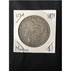 1899 USA MORGAN SILVER DOLLAR