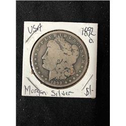 1892 USA MORGAN SILVER DOLLAR (MINTED NEW ORLEANS)