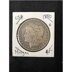 1890 USA MORGAN SILVER DOLLAR (MINTED NEW ORLEANS)
