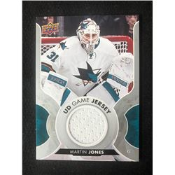 2017-18 UD Hockey Series 1 MARTIN JONES Game Jersey #GJ-MJ