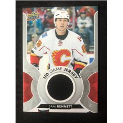 SAM BENNETT 2017-18 Upper Deck UD Game Jersey #GJ-SB Calgary Flames Hockey Card