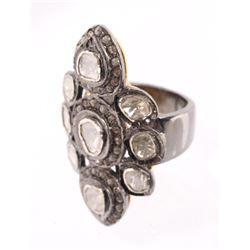Art Deco Rose Cut & Table Cut Diamond Ring 1920's