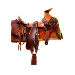 Buckaroo Wade Tree Salesman Sample Saddle 1900's