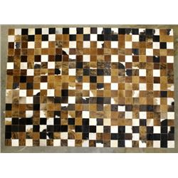Excellent Genuine Cowhide Patchwork Area Rug