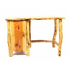 Rustic Hardwood Cedar Log Desk