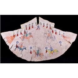Sioux Pictorial Painted & Beaded Model Tipi c1890-