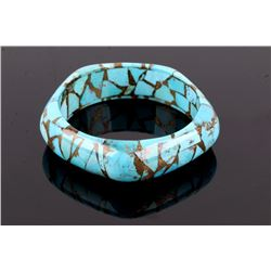 Gem Quality Turquoise Carved Bangle