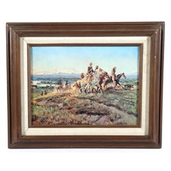 Charlie Russell Print Titled Men Of The Open Range