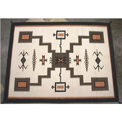 Large Navajo Old Crystal Pattern Style Wool Rug