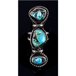 Navajo Tommy Moore Sleeping Beauty Sterling Ring