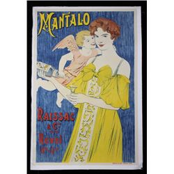 Antique French Mantalo Raissac Poster from 1885