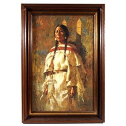 Cheyenne Mother by Howard Terpning Giclee Print
