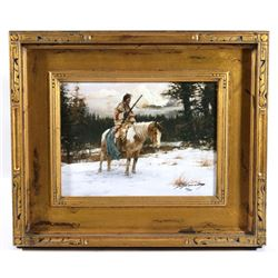 Lonely Sentinel by Howard Terpning Giclee Print