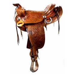 Montana Western Tooled Early Saddle