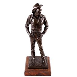 "Bob Scriver ""Ace Powell"" Bronze Sculpture 21/35"