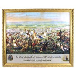 Anheuser- Busch Custer's Last Fight Lithograph