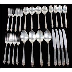 King Cedric Oneida Sterling Cutlery Sets
